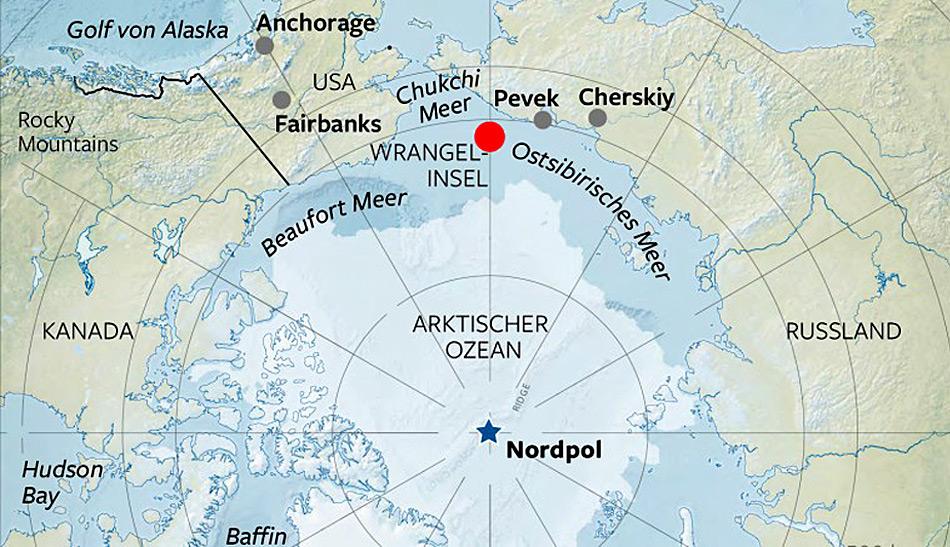 Seit genau 90 Jahren gehört die strategisch wichtige Wrangel Insel zu Russland.