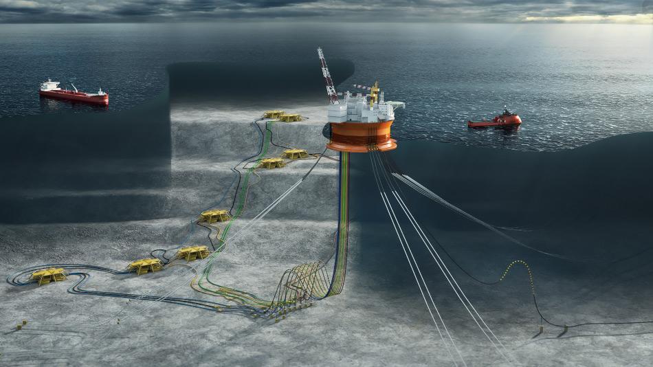 Goliat wurde spezifisch entwickelt, um den harschen Bedingungen der Barentssee zu widerstehen. Sie eine schwimmende Plattform, deren 11 Bohrbrunnen unter Wasser das Öl an die Oberfläche holen werden. Die Plattform selbst kann bi zu 1 Million Fass Öl aufnehmen und sie an Tankschiffe weitergeben.